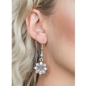 Paparazzi - Blue - Earrings - #212